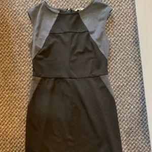 black cap sleeve cotton dress